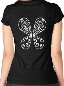 Fairy Wings - White Women's Fitted Scoop T-Shirt
