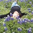 Texas Girl in Bluebonnets by BrigitteinTexas