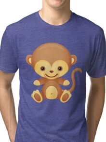 Cute little monkey Tri-blend T-Shirt