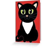 Only One Black and White Cat Greeting Card
