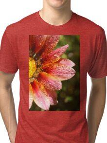 Floral Sunshine and Droplets Tri-blend T-Shirt