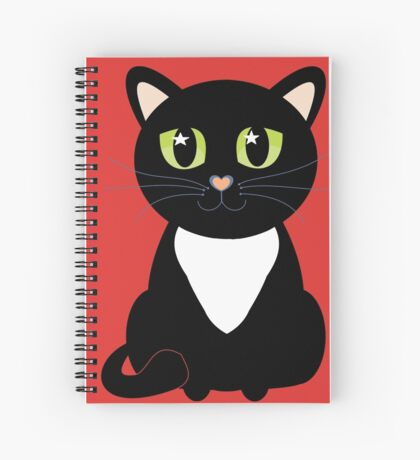 Only One Black and White Cat Spiral Notebook