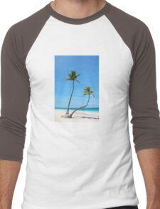 Bavaro Beach in Punta Cana, The Dominican Republic Men's Baseball ¾ T-Shirt