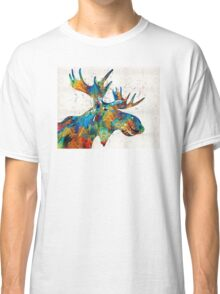 Colorful Moose Art - Confetti - By Sharon Cummings Classic T-Shirt