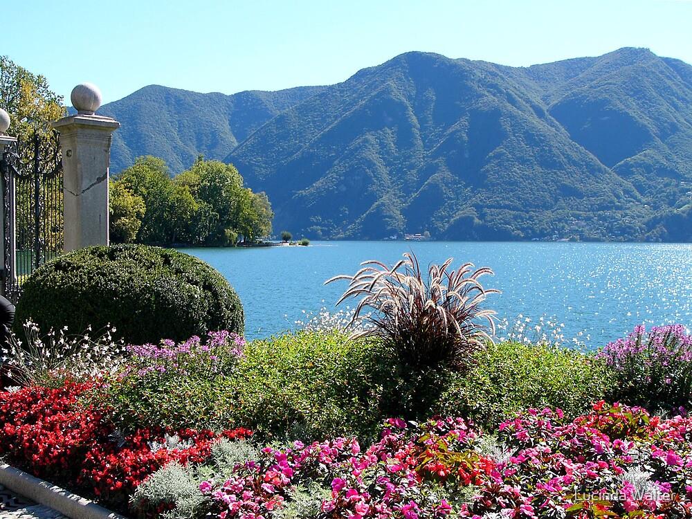 The Shores of Lake Lugano by Lucinda Walter