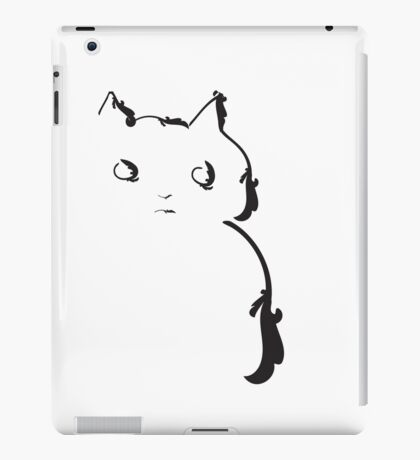 This cat doesn't trust anybody iPad Case/Skin