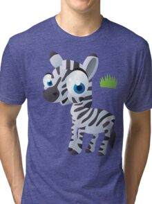 Baby zebra in grass Tri-blend T-Shirt