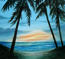 Good Morning Sunshine Seascape by Rosie Brown