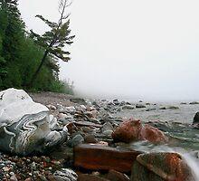 Foggy morning Lake Superior Ontario by Eros Fiacconi (Sooboy)