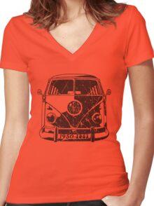 Splitty Women's Fitted V-Neck T-Shirt
