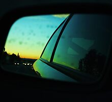 Through the dirty side view mirror by Tisa