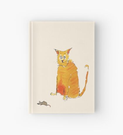 Cat and mouse Hardcover Journal