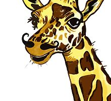 Giraffe with moustache by drknice