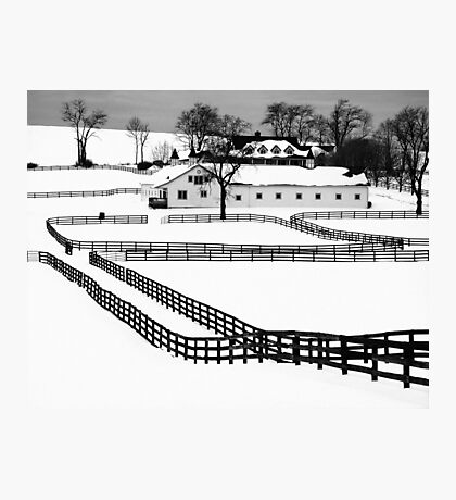 Snow Covered Photographic Print