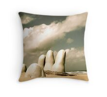 Hand in the Sand Throw Pillow