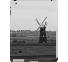 Berney Arms Windmill in monochrome iPad Case/Skin