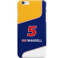 F1 Legends - Nigel Mansell [Williams] iPhone Case/Skin
