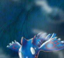 Kyogre, mighty water type Pokemon by yoyowest