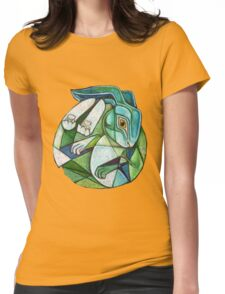 Moon Hare Womens Fitted T-Shirt