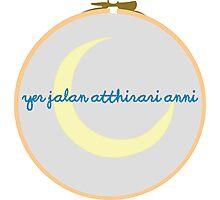 Moon of My Life Dothraki Embroidery Hoop Photographic Print