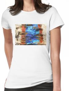 Textured wood - Vintage wallpaper Womens Fitted T-Shirt
