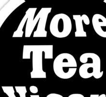 Teapot - More tea Vicar? - Black and White Sticker
