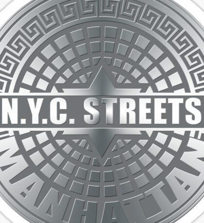 Manhole Covers Manhattan Gray Sticker