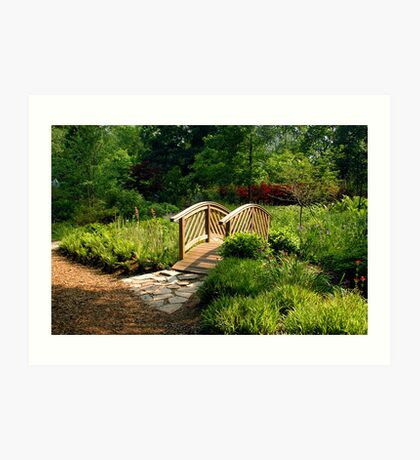 The Bridge At Brookside Gardens Art Print