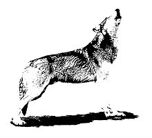 Howling Wolf by TinaGraphics