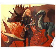 Dinosaur Knight Poster