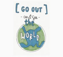 Go out and see the world Kids Tee