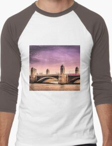 Longfellow Bridge, Boston MA Men's Baseball ¾ T-Shirt