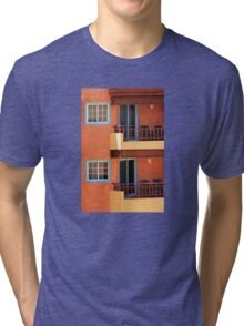 Vivid colors in Isla Mujeres, Mexico Tri-blend T-Shirt
