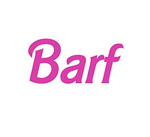 Barf Pink Barbie Letters by SailorMeg