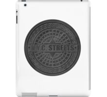 Manhole Covers NYC Black iPad Case/Skin