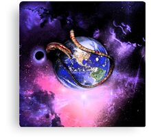 Alien Earth Domination Canvas Print