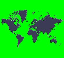 World Splatter Map - ntrue green by Mark McKinney
