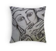 mask 3  Throw Pillow