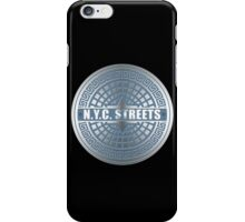 Manhole Covers NYC Blue iPhone Case/Skin