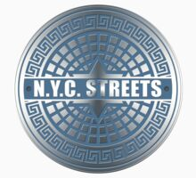 Manhole Covers NYC Blue by ImagineThatNYC