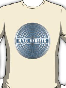 Manhole Covers NYC Blue T-Shirt