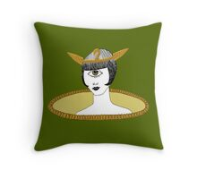 Cyclops Louise Brooks as Egyptian Valkyrie with All-Seeing Eye Throw Pillow