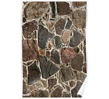 stone wall texture / background Poster