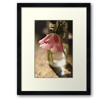Tulips in the kitchen i Framed Print