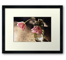 Tulips in the kitchen ii Framed Print
