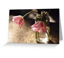 Tulips in the kitchen ii Greeting Card