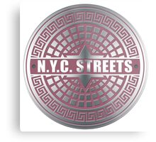 Manhole Covers NYC Pink Metal Print