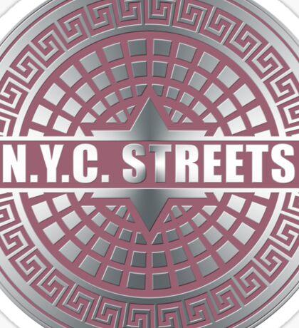 Manhole Covers NYC Pink Sticker