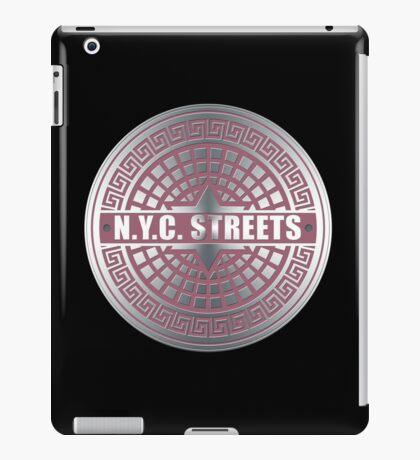 Manhole Covers NYC Pink iPad Case/Skin