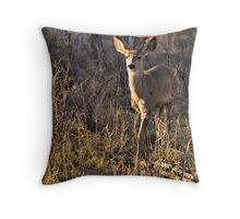 Warrior Deer Throw Pillow